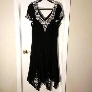 J KARA Embellished Black Dress